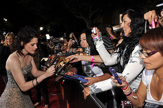 Kristen Stewart autografer New Moon
