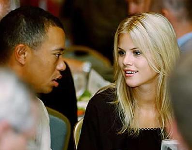 Tiger Woods med svenska frun Elin