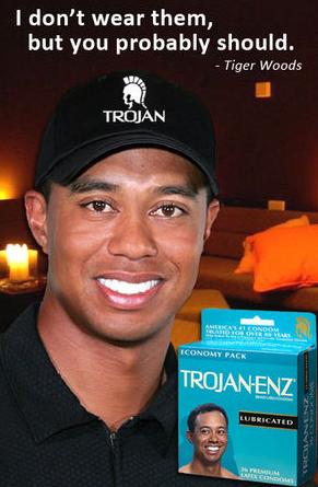 Tiger gör reklam för kondomer