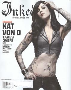Kat von D är tatuerad på omslaget av Inked Magazine