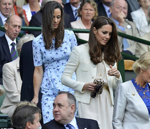 medan systrarna Middleton kollade p Wimbledon i helgen
