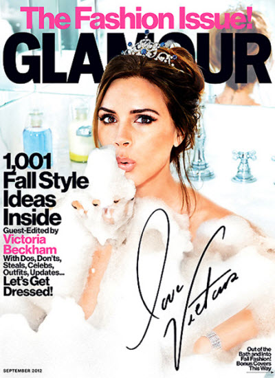 Victoria Beckham Glamour the Fashion issue