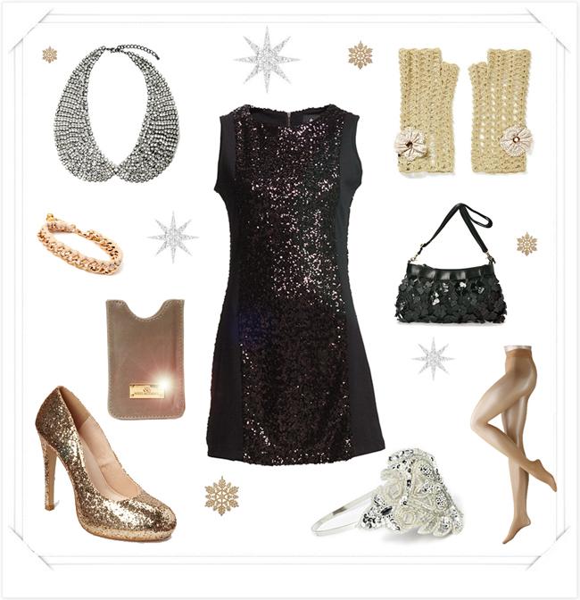 tema glitter och glamour kläder