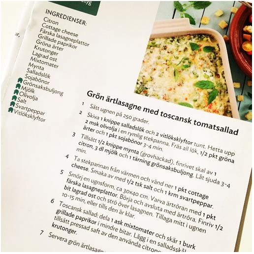 linas vegetariska matkasse recept