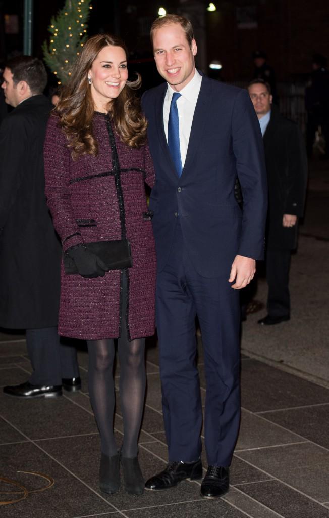 Prinsessan Kate och prins William i New York