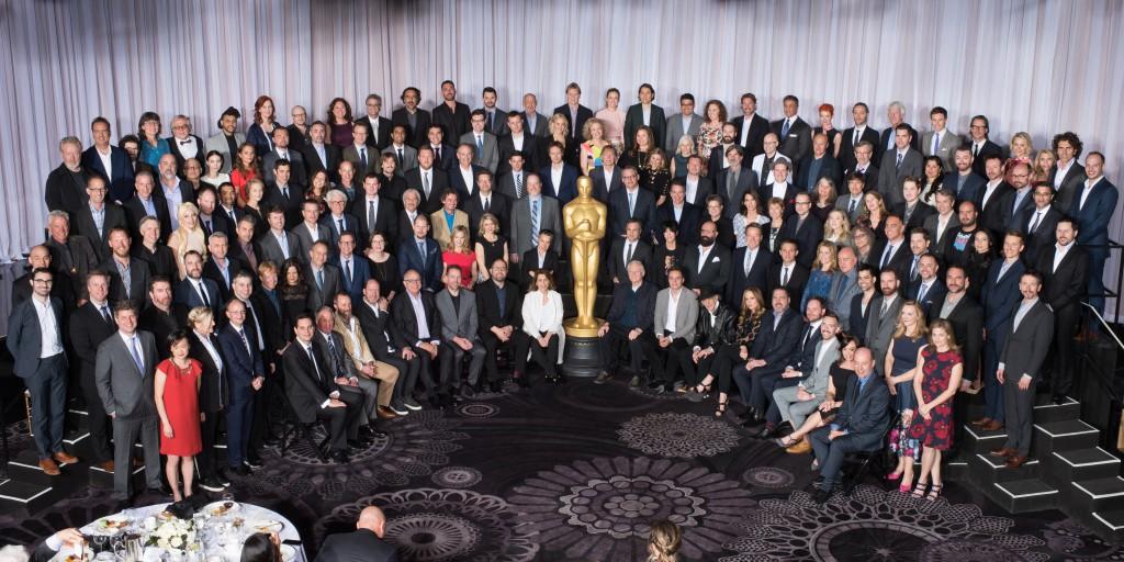 Alla Oscarsnominerade pa samma bild 2016